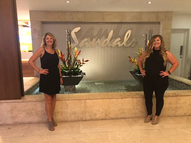Amanda Henderson and Rachel Rathbone become Sandals Certified!